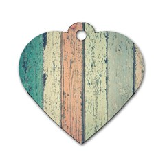 Abstract Board Construction Panel Dog Tag Heart (One Side)