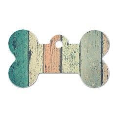 Abstract Board Construction Panel Dog Tag Bone (Two Sides)