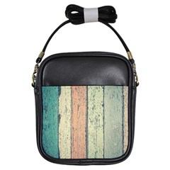 Abstract Board Construction Panel Girls Sling Bags