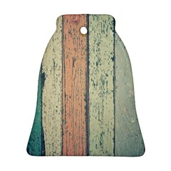 Abstract Board Construction Panel Bell Ornament (Two Sides)