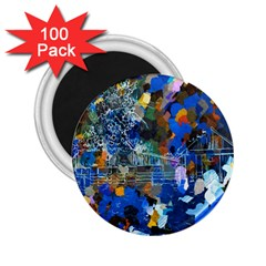 Abstract Farm Digital Art 2.25  Magnets (100 pack)