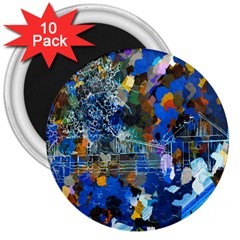 Abstract Farm Digital Art 3  Magnets (10 pack)