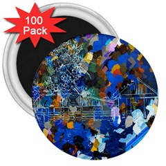Abstract Farm Digital Art 3  Magnets (100 pack)