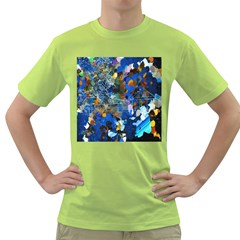 Abstract Farm Digital Art Green T-Shirt