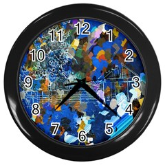 Abstract Farm Digital Art Wall Clocks (Black)