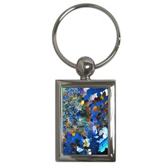 Abstract Farm Digital Art Key Chains (Rectangle)