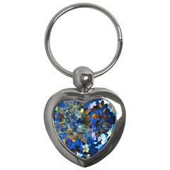 Abstract Farm Digital Art Key Chains (Heart)