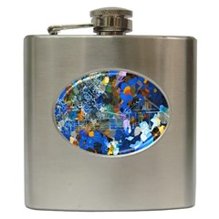 Abstract Farm Digital Art Hip Flask (6 oz)