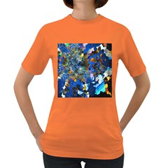 Abstract Farm Digital Art Women s Dark T-Shirt
