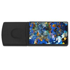 Abstract Farm Digital Art USB Flash Drive Rectangular (4 GB)