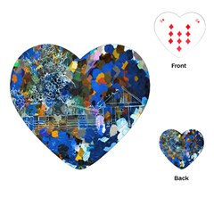 Abstract Farm Digital Art Playing Cards (Heart)
