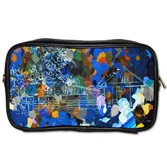 Abstract Farm Digital Art Toiletries Bags