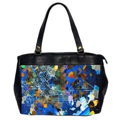 Abstract Farm Digital Art Office Handbags (2 Sides)