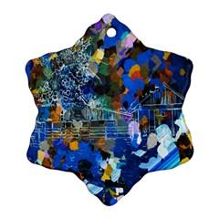 Abstract Farm Digital Art Ornament (Snowflake)