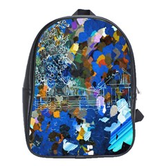 Abstract Farm Digital Art School Bags (xl)