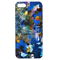 Abstract Farm Digital Art Apple iPhone 5 Hardshell Case with Stand