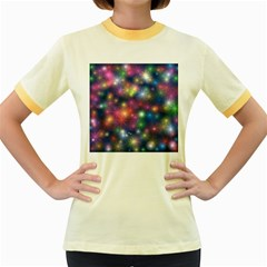 Abstract Background Graphic Design Women s Fitted Ringer T Shirts