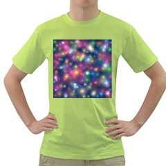 Abstract Background Graphic Design Green T-Shirt