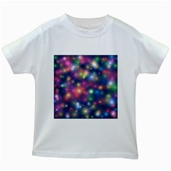 Abstract Background Graphic Design Kids White T Shirts