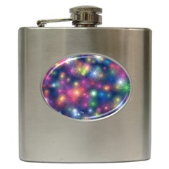 Abstract Background Graphic Design Hip Flask (6 oz)