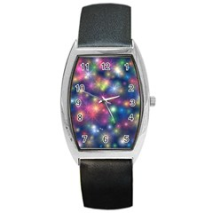 Abstract Background Graphic Design Barrel Style Metal Watch