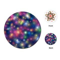 Abstract Background Graphic Design Playing Cards (Round)