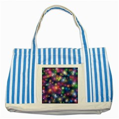 Abstract Background Graphic Design Striped Blue Tote Bag