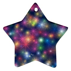 Abstract Background Graphic Design Star Ornament (Two Sides)