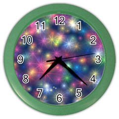Abstract Background Graphic Design Color Wall Clocks
