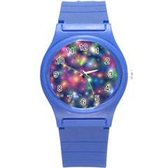 Abstract Background Graphic Design Round Plastic Sport Watch (S)