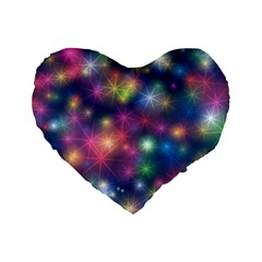 Abstract Background Graphic Design Standard 16  Premium Heart Shape Cushions