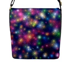 Abstract Background Graphic Design Flap Messenger Bag (L)