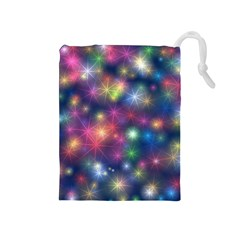 Abstract Background Graphic Design Drawstring Pouches (Medium)