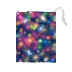 Abstract Background Graphic Design Drawstring Pouches (large)