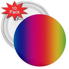 Abstract Rainbow 3  Buttons (10 pack)