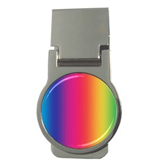 Abstract Rainbow Money Clips (Round)