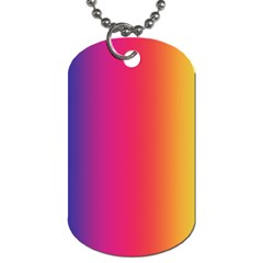 Abstract Rainbow Dog Tag (Two Sides)