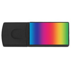 Abstract Rainbow USB Flash Drive Rectangular (1 GB)