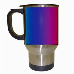 Abstract Rainbow Travel Mugs (White)