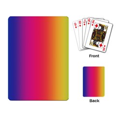 Abstract Rainbow Playing Card