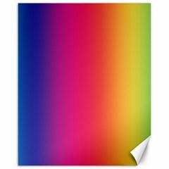 Abstract Rainbow Canvas 16  x 20