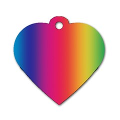Abstract Rainbow Dog Tag Heart (One Side)