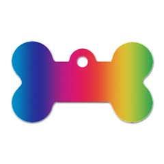 Abstract Rainbow Dog Tag Bone (Two Sides)