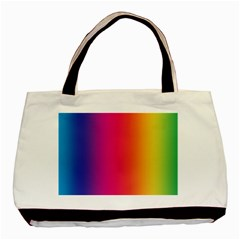 Abstract Rainbow Basic Tote Bag (Two Sides)
