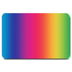 Abstract Rainbow Large Doormat