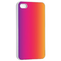 Abstract Rainbow Apple iPhone 4/4s Seamless Case (White)