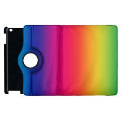 Abstract Rainbow Apple iPad 3/4 Flip 360 Case
