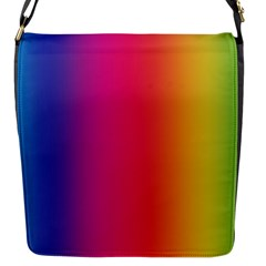 Abstract Rainbow Flap Messenger Bag (S)