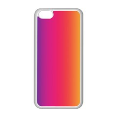 Abstract Rainbow Apple Iphone 5c Seamless Case (white)