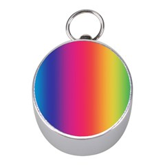 Abstract Rainbow Mini Silver Compasses